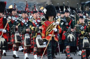Bagpipers in Edinburgh