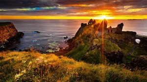 Dunluce Castle Sunset - Ireland