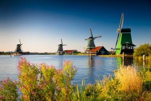 Windmills. Zaanse Schans - Netherlands